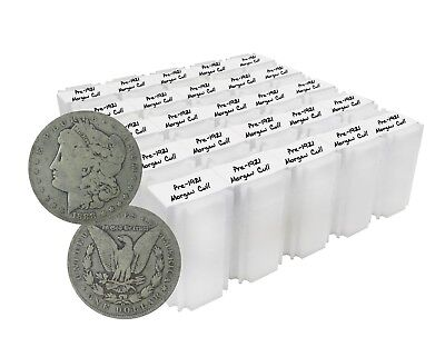 Pre 1921 Silver Morgan Dollar Cull Lot of 500 Mix Dates and Mint Marks of S$1