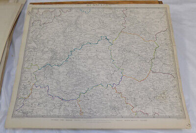1834 Antique COLOR SDUK Map///RUSSIA IN EUROPE, PART 4