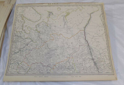 1835 Antique COLOR SDUK Map///RUSSIA IN EUROPE, PART 2