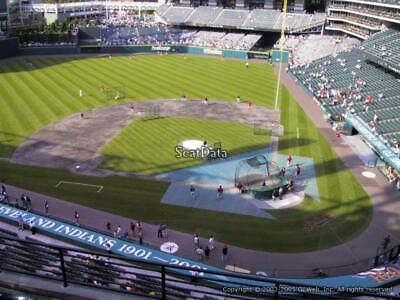 4 TICKETS CHICAGO WHITE SOX @ CLEVELAND INDIANS 9/3 *VIEW BOX Row A*
