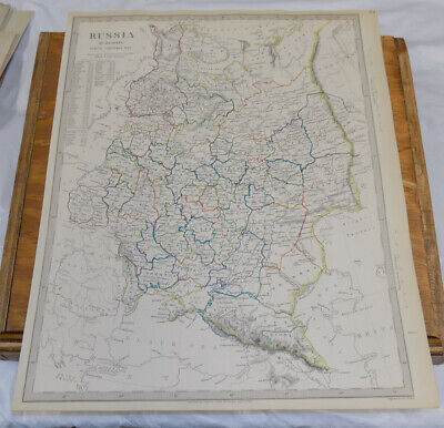 1840 Antique COLOR SDUK Map///RUSSIA IN EUROPE, PART 10, GENERAL MAP OF AREA