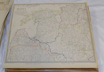 1834 Antique COLOR SDUK Map///RUSSIA IN EUROPE, PART 3