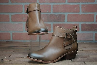 98957847e5a517 Sam Edelman  Pacific  Wraparound Brown Leather Ankle Booties