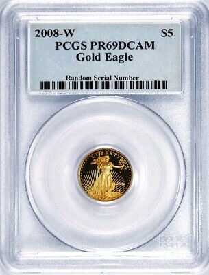 2008 W $5 1/10 oz Proof American Gold Eagle PCGS PR69 DCAM