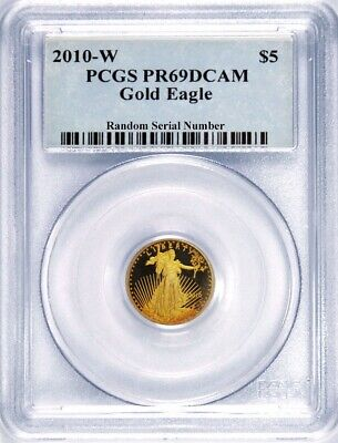 2010 W $5 1/10 oz Proof American Gold Eagle PCGS PR69 DCAM