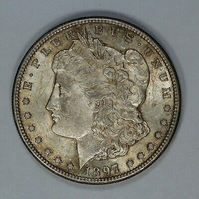 1897 S Morgan Silver Dollar $1 Choice Bu Brilliant Uncirculated - Original (7938
