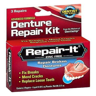 New Dentist On Call Repair-It Advanced Denture Repair Kit 3 Ct.