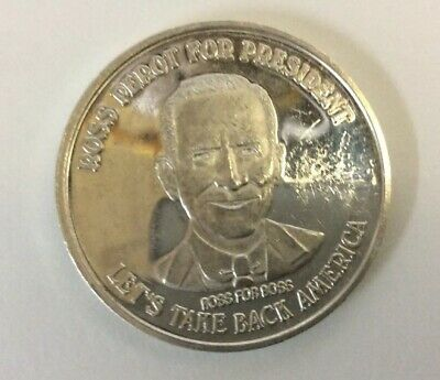Ross Perot For President  One 1 Troy Oz Ounce 999 Silver Coin