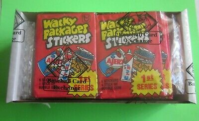 1979 Topps Wacky Packages 1st Series Packs (Lot of 36)