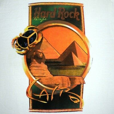 23859c8f VINTAGE HARD ROCK Cafe T Shirt CAIRO EGYPT Sz S NEW Authentic ...