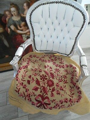 French vintage  needlpoint petit point tapestry for chair  armchair or pillows