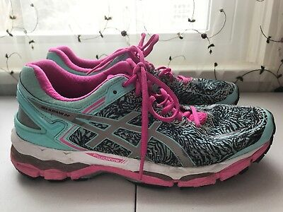 Women s Asics Gel Kayano 22 Running Shoes fluid fit size 10 Teal Hot Pink 0ca7bc272