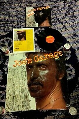 1979 Frank Joe's Garage Act 1 Promo Lp Poster +Ad W/ Zappa Criminalization Story