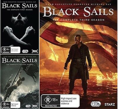 Black Sails : Seasons 1 2 3 : NEW DVD