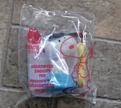 Peanuts Collectible Happy Meal Toy Helicopter Snoopy NIP McDonalds 2018