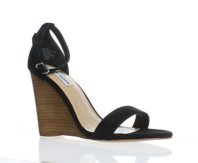 303ae5e4ae30c0 Steve Madden Womens Mary Black Suede Ankle Strap Heels Size 10 (185494)