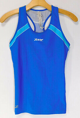 ce3d75787 ZOOT Sleeveless CYCLING JERSEY Blue Racerback Tank Top Spandex Women s SMALL