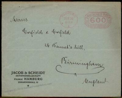 Germany 1923 August Inflation Meter Advertising Cover Last Day Rate 67215