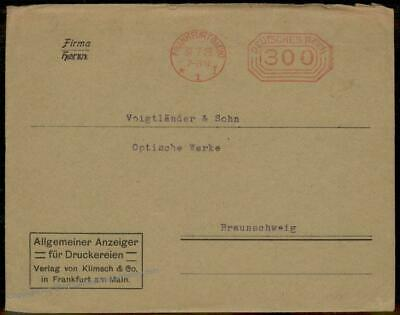 Germany 1923 July Inflation Meter Advertising Cover Last Day Rate 67219