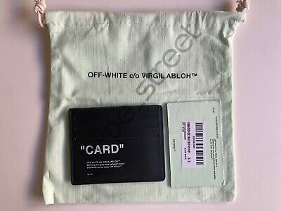 "Off-White c/o Virgil Abloh - Black Quote Card Holder ""Card"" Cardholder Genuine"
