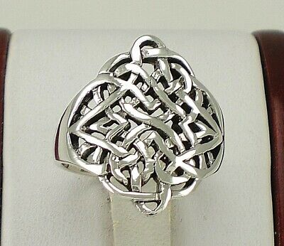 Large .925 Sterling Silver CELTIC KNOT ring size 7  style# r2176