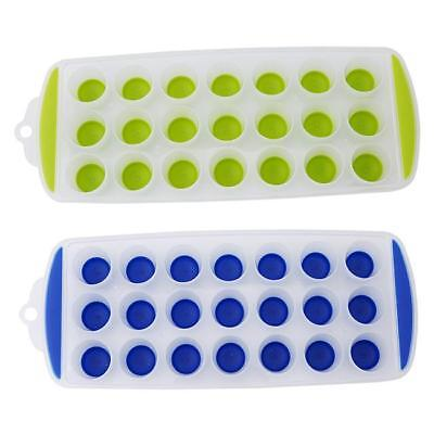 New Ice Cube Tray Easy Maker Ice Cube Silicone Top Mould 21 Ice Cubes B