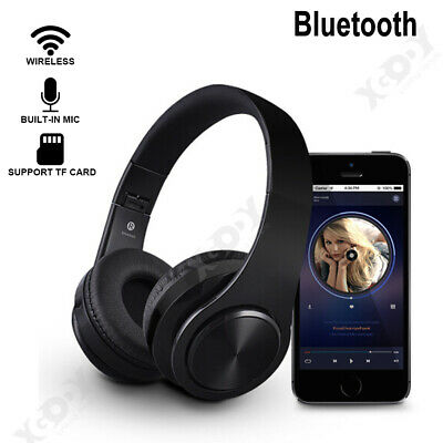 Bluetooth 4.2 Headphones Wireless Over-Ear Earphone 3D Stereo Super Bass Headset