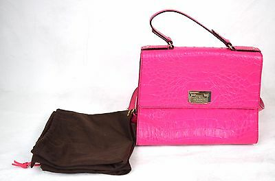 5c3f2231618e Kate Spade Handbag Orchard Valley Doris Hot Pink Croc Leather Satchel Purse