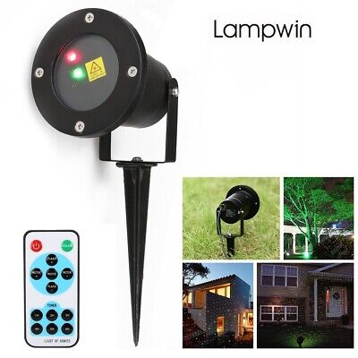 Lampwin Red Green Dynamic Firefly Projector & Starry Lawn Light Remote Control