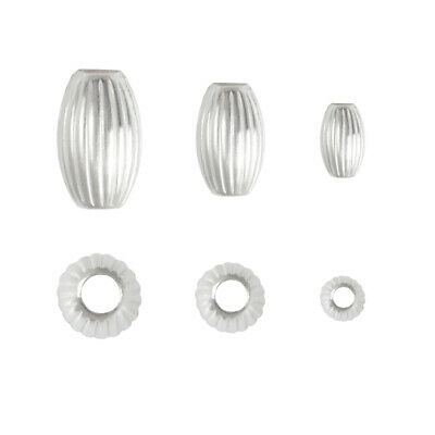 Sterling Silver Oval Spacer Beads for Jewelry Making * Many Sizes