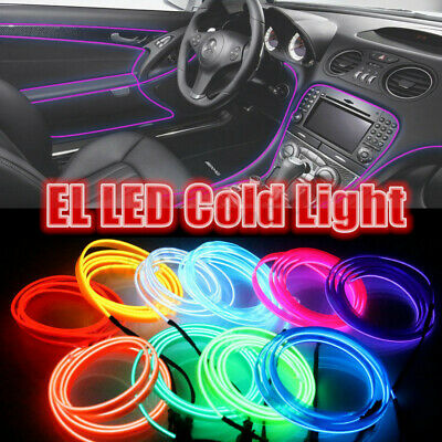 1-5M Car Interior Decor Flexible LED Neon Light Glow EL Strip Tube Wire Rope  !
