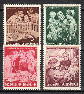 Germany / Reich - 1944 10 years mothers aid - Mi. 869-72 MNH