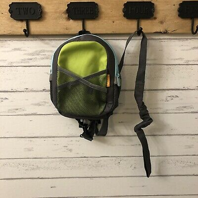 Brica By-My-Side Safety Harness Backpack Green Blue Toddler Child Kids NWOT