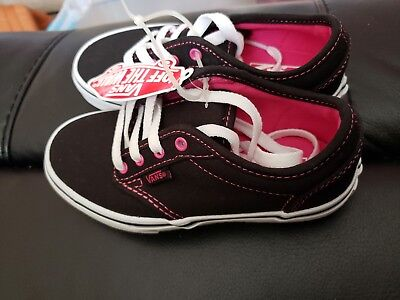0eb4ac43d8b382 Vans Us Missy Canvas Two Tone Black Hot Pink Sneakers Girl s 12.5 Off The  Wall