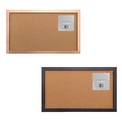 Metal Frame Cork Notice Pin Board Postcards Notes Pictures Hanging Hooks Pins