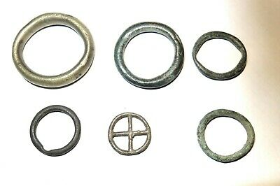 "6 Celtic Bronze rings ""Proto money"""
