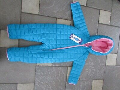 ae367ce25 New Snozu Blue/pink Baby Bunting Snowsuit Fleece Lined 24M Baby Girl Free  Ship