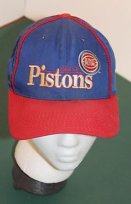 03b3d662c719c Vintage Embroidered DETROIT PISTONS Limited Edition NBA Baseball Style Hat  Cap