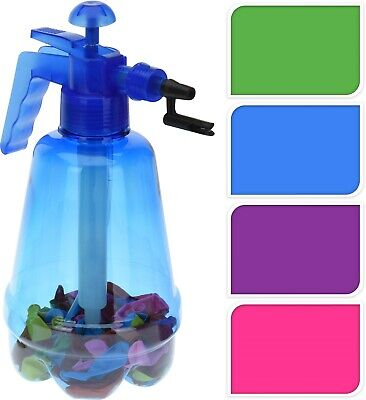 2 in 1 Water Bomb Balloon Pump plus 100 Balloons Knot Tie Kids Party Summer Fun