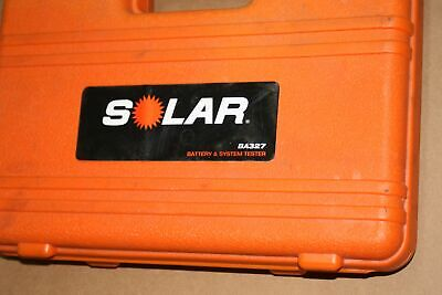 Solar (BA327) 20-2000 CCA - Electronic Battery and System Tester with Printer