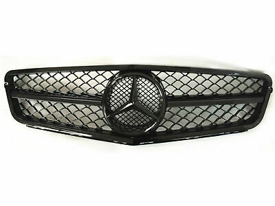 New C63 AMG Style Gloss Black Grill For C-Class Benz W204 C300 C350 2008-2014 AT