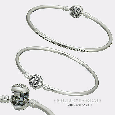 Authentic Pandora Disney Beauty & the Beast Silver Bangle 8.3  590748CZ-21
