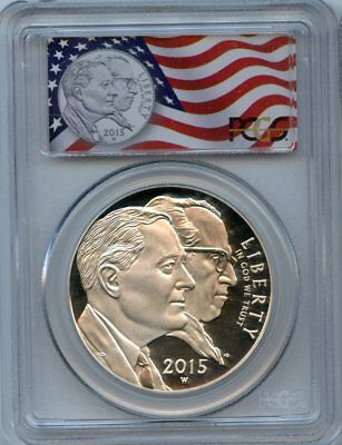 2015 W $1 Pcgs Pf69 Dcam Proof March Of Dimes 1St Strike Deep Cameo Silver $1