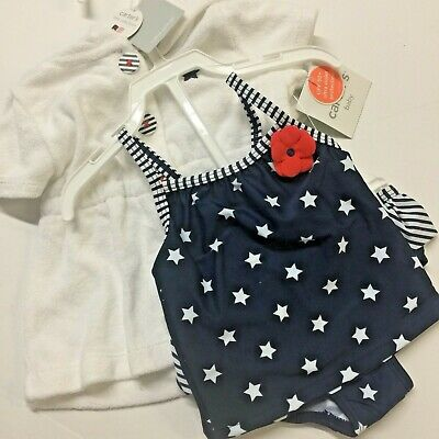 4f8ce5e650b16 Carter's Baby Girl's Swim Suit 3 Months 3 Piece Cover Up Set Red White Blue  Star