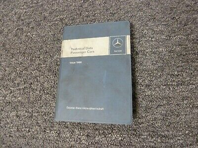 1965-1966 Mercedes Benz 230SL Pagoda Roadster Service Specifications Manual