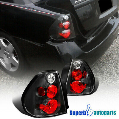 2004 2007 Chevy Malibu Replacement Tail Lights Brake Lamps Black