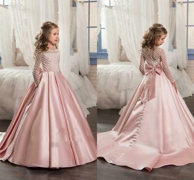 New Prom Bridesmaid Princess Wedding Girls Dress Maxi Evening Party Kids Clothes
