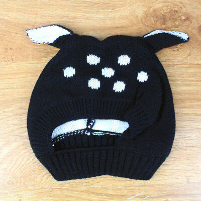 Toddler Kids Girls Boys Knitted Warm Cap Baby Winter Cat Ear Outdoor Soft Cap B