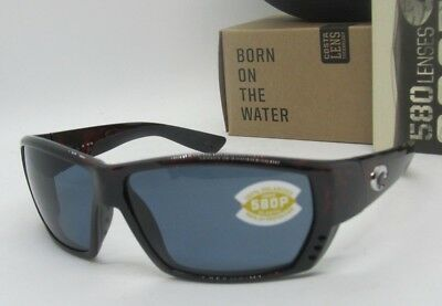 4421f25a8a COSTA DEL MAR tortoise gray TUNA ALLEY POLARIZED 580P sunglasses! NEW IN  BOX!