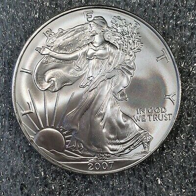 2007 Uncirculated American Silver Eagle US Mint Issue 1oz Pure Silver #H608